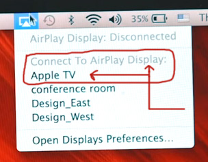 Connecting Mac to Apple TV