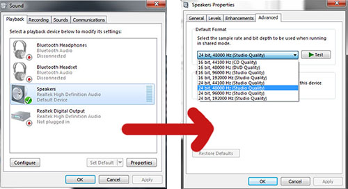 Sound Manager - Windows 7