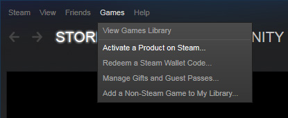 Using a download code on Steam